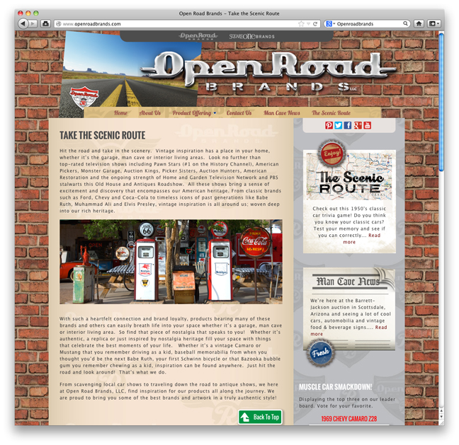 WebsiteDesignOpenRoadBrands